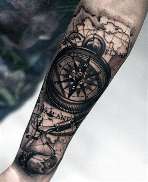 compass tattoo for men 70 compass designs for an exploration of ideas