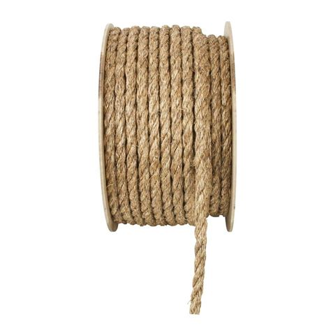 everbilt 1 in x 1 ft twisted manila rope 70296 the