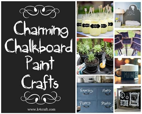 chalkboard paint craft projects home k4 craft