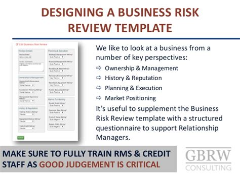 Credit Review Template Expert Judgement Credit Rating For Sme Commercial Customers