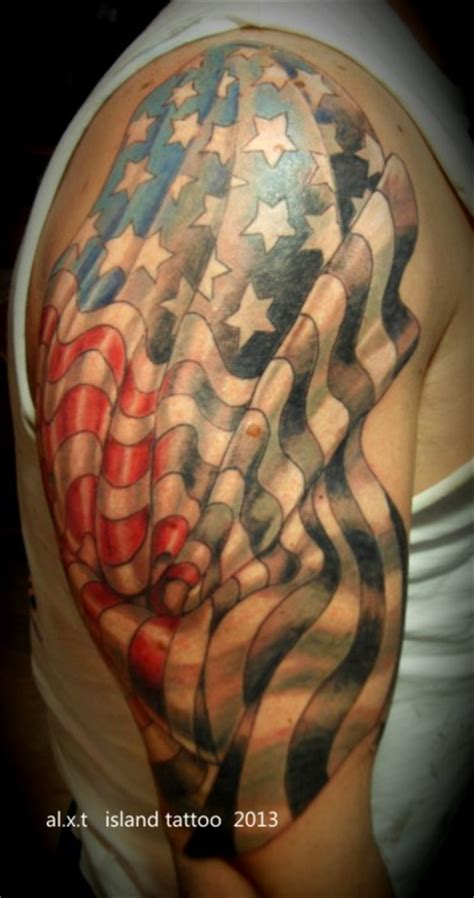 american quarter sleeve tattoo 35 patriotic tattoos on sleeve
