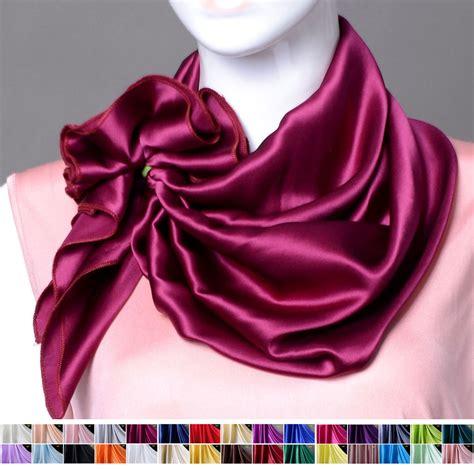 100 silk scarf silk charmeuse square scarf shawl 32 quot x32