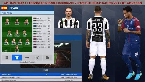 Pes 2017 Pte Patch 6 0 Pc pes 2017 option file transfers 2018 for pte patch 6 0 by