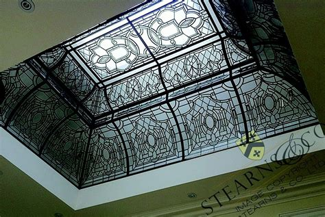 Glass Dome Ceiling by Custom 13 X 9 Multi Level Leaded Glass Dome Ceiling By