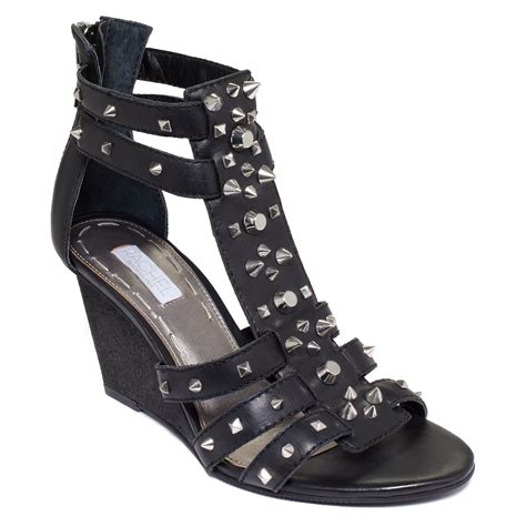 gladiator wedge sandals roy ollysa wedge gladiator sandals in black