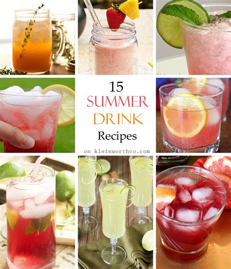 15 summer drink recipes kleinworth co