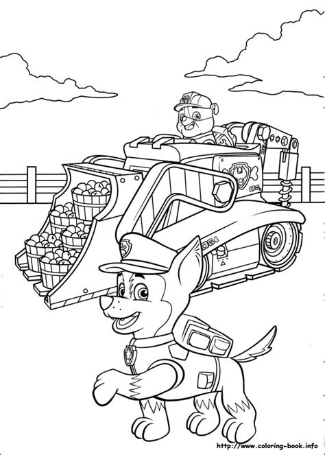 paw patrol coloring picture 2 color cute pinterest