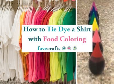 can you tie dye with food coloring how to tie dye a shirt with food coloring favecrafts