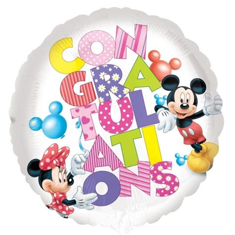 Wedding Congratulations Balloons by Congratulations Disney Foil Balloon Balloons Co Uk