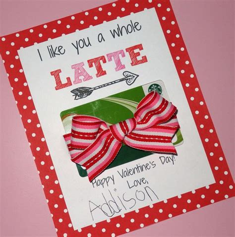 valentines starbucks starbucks gift card s day card