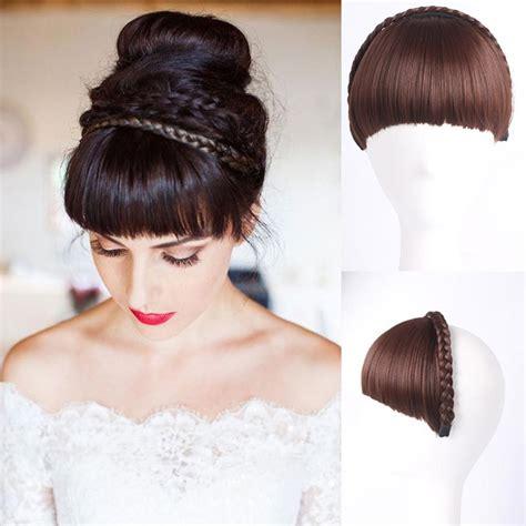 hair bangs pieces 1pc multi color bangs natural fake hair extension