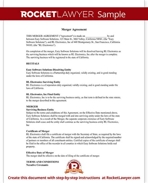 merger agreement template merger agreement form merger agreement template with