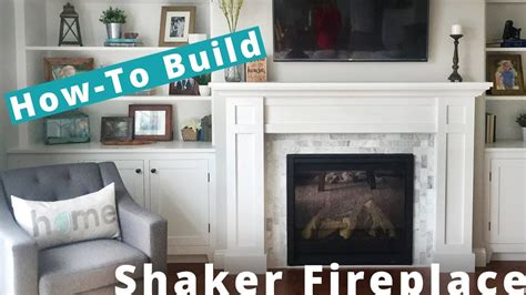 how to make a fireplace hearth how to build a shaker fireplace surround and mantel diy project
