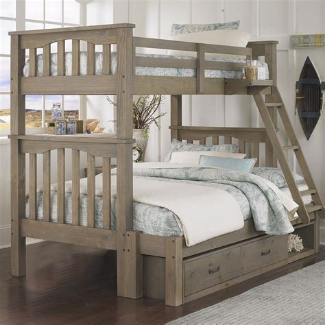 bunk beds with full bottom highlands harper twin over full bunk bed free shipping