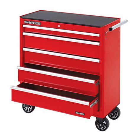 clarke cbb315 large heavy duty 5 drawer mobile tool