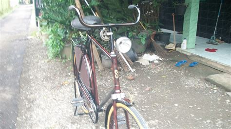 Emblem Tulisan Ori koleksi sepeda onthel kuno c antik 2016