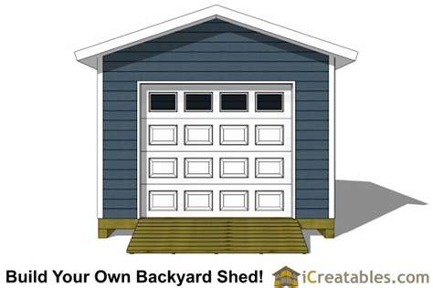 16 X 12 Garage Door 12x16 Shed Plans With Garage Door Icreatables