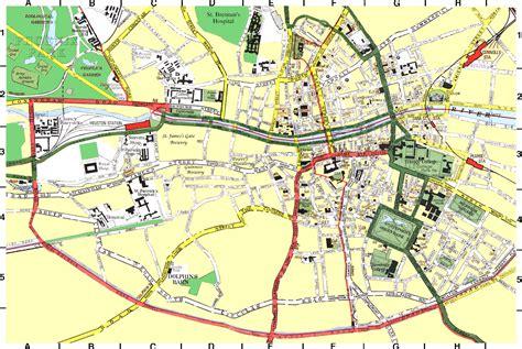 printable map dublin city centre dublin city map dublin ireland mappery