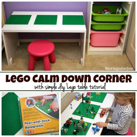 diy corner lego table calm corner for with diy lego table where