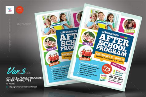 After School Program Flyer Templates By Kinzi21 Graphicriver Curriculum Flyer Template