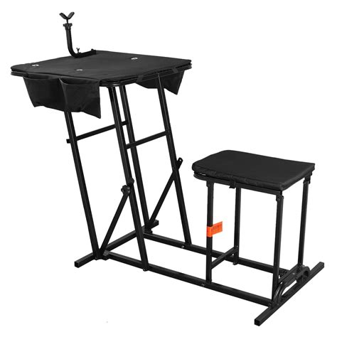 portable bench rest shooting stand shooting hunting chair seat bench field range portable