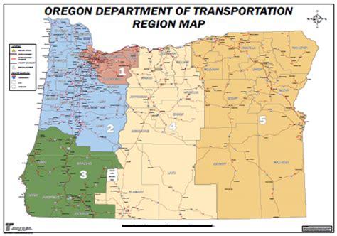 map of oregon regions work zone project coordination webinar odot work zone