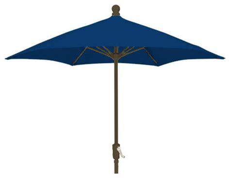 7 5 Foot Hexagonal Navy Blue Outdoor Patio Umbrella With 5 Foot Patio Umbrella
