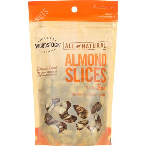 All About Almonds 2 by Woodstock Nuts All Almonds Slices Thick