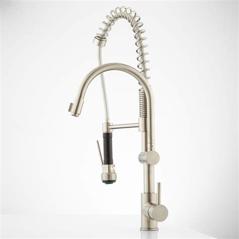 spring pull down kitchen faucet levi gooseneck kitchen faucet with pull down spring spout ebay