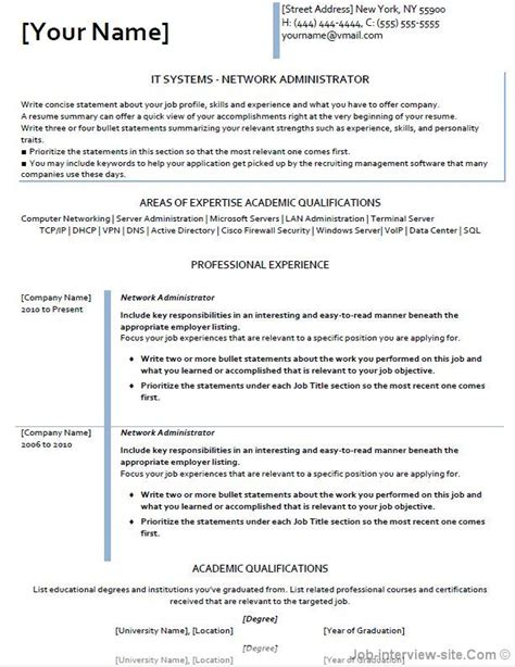network professional resume exles free 40 top professional resume templates