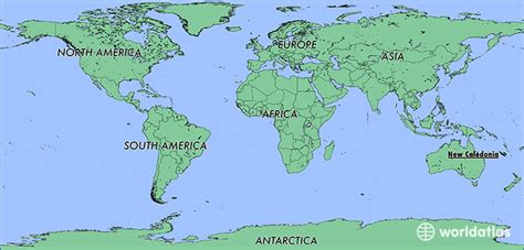 new caledonia world map where is new caledonia where is new caledonia located