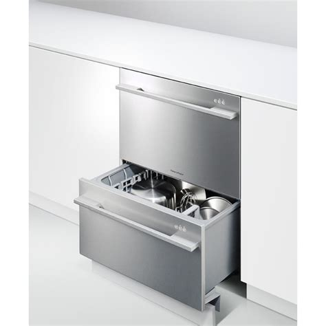 Fisher And Paykel Two Drawer Dishwasher by Dd24ddfx7 Fisher Paykel Dishwasher Drawer W Flat