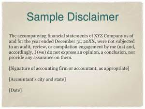 Business Letter No Signature The New Preparation Of Financial Statements Standard Ssars 21