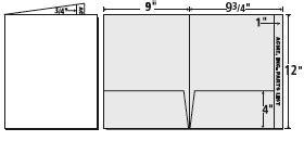 standard folder template standard templates presentation folder inc
