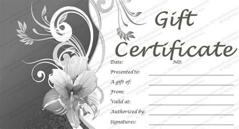 salon gift certificate template free gift certificate template gift