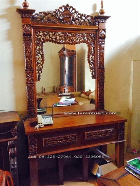Cermin Gebyok meja rias tolet cermin gebyok fuel ukiran kayu jati jepara