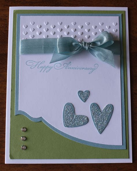 Wedding Anniversary Materials by Anniversary Card Using Edgelits And Hearts Embossing