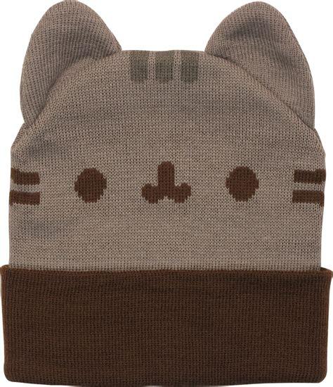 cat beanie pusheen the cat and ears cuff beanie
