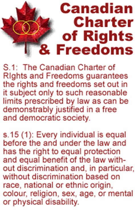 canadian charter of rights and freedoms section 9 equal marriage for same sex couples legal chrc