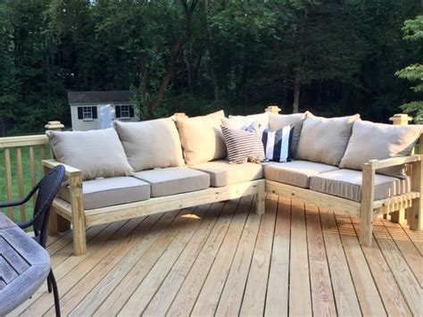 ana white outdoor sectional ana white outdoor sofa with one arm piece to make