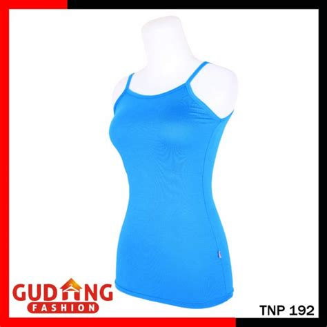Tank Top Tali Kecil Tnp 137 pakaian wanita spandek biru muda tnp 192