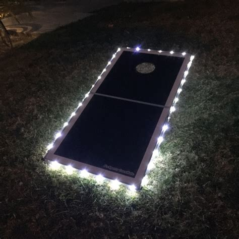light up corn board hole sets tailgating ideas