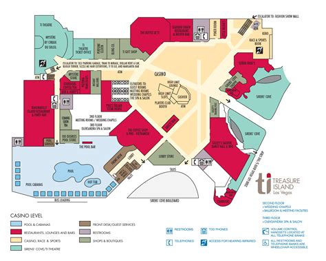 map of flamingo las vegas property ti hotel property map treasure island hotel and casino