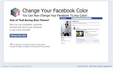 facebook theme google chrome extension fake change facebook color theme events lead to rogue