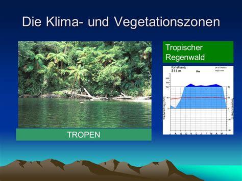tropisches klima merkmale die klima und vegetationszonen ppt