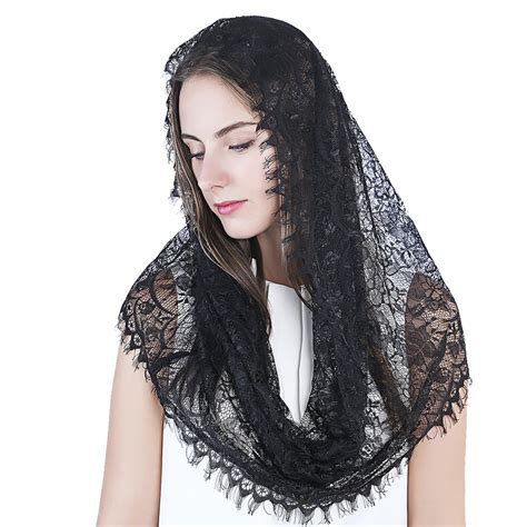 infinity mantilla infinity scarf mantilla catholic church veil covering
