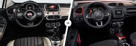 jeep renegade vs 500x fiat 500x vs jeep renegade mini suv showdown carwow