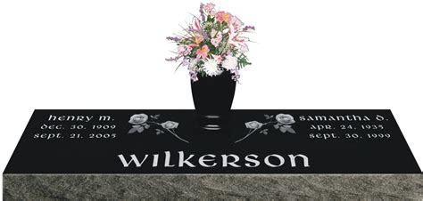 Flat Grave Markers With Vase by Laser Etched Grave Marker Models Gravestones And