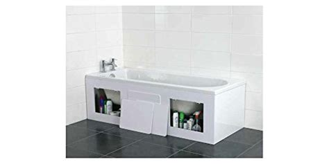 bath panel 1700 x 500 croydex acrylic bath front storage panel gloss white 1700 x 500 x 25mm adjustable with all