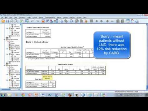 spss tutorial cox regression ayumi s biostats lesson 27 2 cox proportional hazard